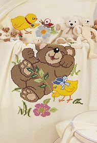 Gallery.ru / Фото #4 - Мишутки - mornela C2c Crochet, Baby Bibs, Cross Stitch Patterns, Teddy Bear, Elsa, Cartoons, Disney, Cross Stitch For Baby, Toddler Chart