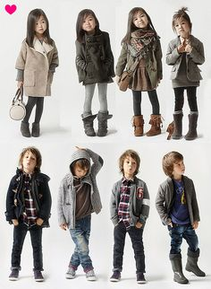 Boys and Girls Fashion   So cute but very grown up! Let kids be kids for as long as possible!