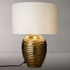 Buy John Lewis Tall Ise Lamp Base, Antique Brass from our Desk & Table Lamps range at John Lewis & Partners. Table Desk, Table Lamp, Desk Light, Bedroom Lamps, Bedside Lamp, Lamp Bases, Natural Texture, Home Lighting, John Lewis