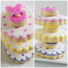Double Decker Easter Bunny Cookies!! via Bakeat350.blogspot.com