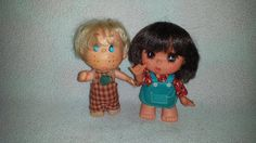 Vintage Rubber Dolls, Boy and Girl Dolls, Freckles, Collectible, Thumbsuckers Dolls, Rubber Doll, Boy, Girl, Dolls, Kitsch, Moveable Arms by JunkYardBlonde on Etsy
