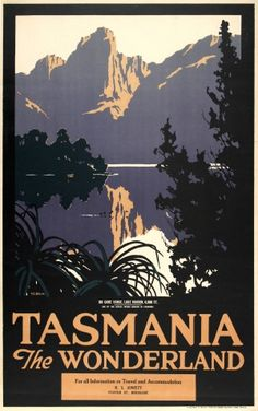 Tasmania The Wonderland Lake Marion, 1920s - original vintage poster by Harry Garnet Kelly listed on AntikBar.co.uk