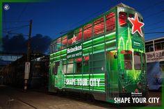 Heineken Pop-Up Tram in Hong Kong