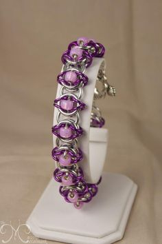 Celtic Visions (Beaded) - Bright (primary), Violet (secondary), Pink Lilac (bead)