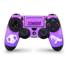 Sombra Playstation 4 Pro/Slim Controller Skin Overwatch Fan Art Overwatch Ps4, Overwatch Fan Art, Geek Games, Epic Games, Control Ps4, Ps4 Mods, Playstation, Pc Console, Overwatch Wallpapers