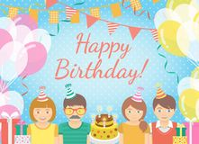 Kids Birthday Party Background Royalty Free Stock Photography