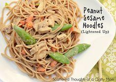 Peanut Sesame Noodles- lightened up