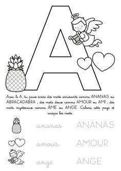 coloriage imprimer alphabet lettre a