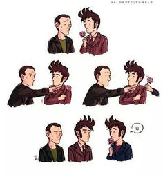 The feels. Nine and ten can't have Rose, but Ten two can. (; _ ;)