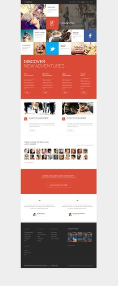 One website design option.  This basically one page, but you scroll down.  It's kind of the new thing, but can get confusing