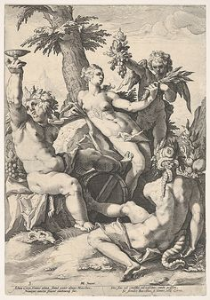 The Alliance of Venus with Bacchus and Ceres - Jacob Matham (metmuseum)