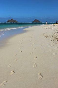 Lanikai Beach: Life seems more Beautiful when you walk through it with a friend.