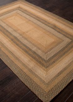 Hudson Coffee Jute. Braided Rug. Braided from 99% Jute and 1% Polyester. $109
