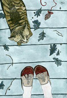 Let's play: Cat Art Print