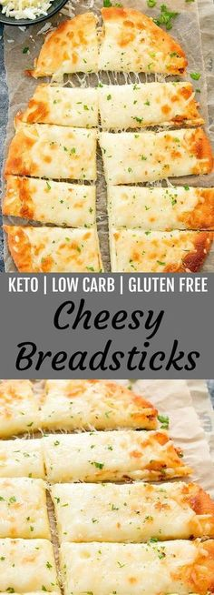 Diet Snacks These cheesy breadsticks are keto, low carb and gluten free. They are ready in about 30 minutes! - These cheesy breadsticks are keto, low carb and gluten free. They are easy to make and ready in about 30 minutes. MOZZARELLA CHEESE AND. Ketogenic Recipes, Diet Recipes, Cooking Recipes, Recipes Dinner, Recipies, Appetizer Recipes, Cooking Cake, Dessert Recipes, Bariatric Recipes