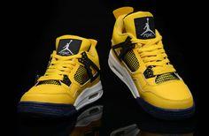 the best attitude 27129 2f476 Air Jordan 4 Retro Lightning Tour Yellow Grey White New Jordans Shoes 2013   Yellow