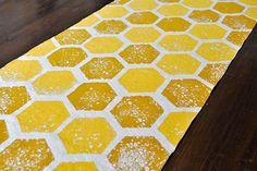 DIY Honeycomb Table Runner