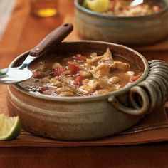 Crowd-pleasing white bean chili calls for canned beans and chicken broth, making prep convenient.