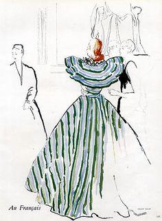 Maggy Rouff 1946 René Gruau, Evening Gown