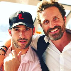 """""""God and the Devil. - Rob with Tom Ellis at the SDCC2017. robenedict"""" 