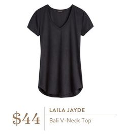 Stitch Fix: Love a v-neck t-shirt. Have black ones but white or gray would be great with my new black vest and fave black skinnies from recent fixes.