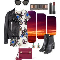 Untitled #33 by n-abagnale on Polyvore featuring polyvore fashion style Mary Katrantzou Acne Studios Topshop Salvatore Ferragamo Oscar de la Renta CÉLINE Urban Decay
