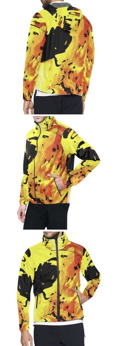 Caribbean colorful Goldfall gold black and yellow All Over Print Windbreaker for Men (Model H23 ) Fashion Designs like this jacket by @anoellejay Alicia Jones and @artsadd   Brooklyn artist featuring Environmental Beach Ocean Caribbean African designs / Go running in a design that has meaning even in the rainy cloudy weather / Also buy this artwork on other home products and accessories http://m.artsadd.com/store/anoellejay?sort=newest?rfsn=714731