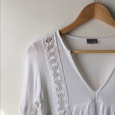 Lace Peasant Blouse Adorable lace trim blouse, bought for a Halloween costume, worn and washed once! Braeve Tops Blouses