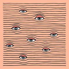 Thaisa Fernandes / Illustration / Design / Art / Eyes / Regarde / Hypnotique