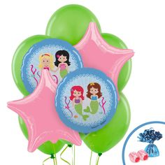Check out Mermaids Foil Balloon Bouquet from Wholesale Party Supplies