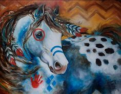 Indian Horses   APPALOOSA INDIAN WAR HORSE - by Marcia Baldwin from Animals