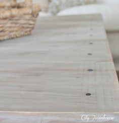 Ikea Hacked Barnboard Coffee Table Tutorial #ikeahack ikea hack gray grey stain vinegar DIY whitewash