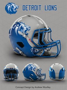 NFL: Detroit Lions concept Revo speed helmet template available @ http://fieldtheory.co.uk/HELMET-TEMPLATES