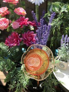 Orange Glass Garden Flower   Etsy Glass Garden Flowers, Garden Art, Bloom, Orange, Handmade Gifts, Plants, Etsy, Decor, Kid Craft Gifts