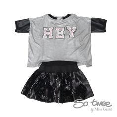 So Twee udsalg børnetøj To-delt kjole med paillet skørt tilbud børnetøj