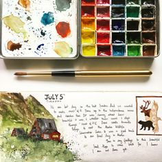 Pages from my watercolor journal - archana shankari
