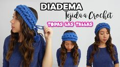 DIADEMA - TURBANTE  con Trenza Tejida  a Crochet TODAS LAS TALLAS - PASO... Crochet Videos, Headbands, Free Pattern, Diy And Crafts, Crochet Patterns, Barbie, Crochet Hats, Knitting, Youtube
