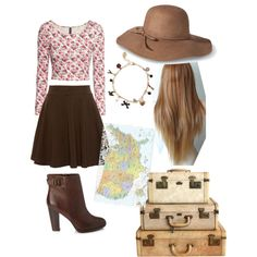 A fashion look featuring H&M tops, Pull&Bear skirts and Forever 21 ankle booties. Browse and shop related looks.