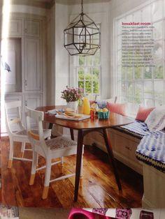 Breakfast room from HGTV Magazine House Tours November 2013.