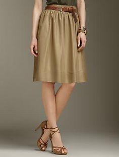 Talbots-silk skirt