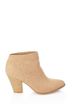 Perforated Faux Leather Booties | FOREVER21 - 2000106415