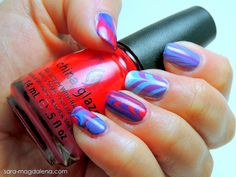 #31DC2013 Day 20: Water Marble - not great or perfect, but the best water marble I've ever done!