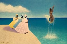 Francois Cauvin - Limited Edition Giclees - Jumping Mermaid