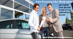 If you are looking for personalized loan deals to buy a car, applying for auto financing after bankruptcy is really the safest choice to make.