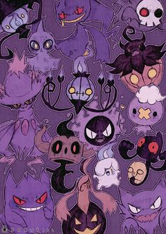 """drawkill: """" Made a fairy pokemon print to go along with my ghosty one I made last year. Fullfilling your need of both cute and creepy. (◕‿◕✿) SUPPORT ME ON PATREON! """""""