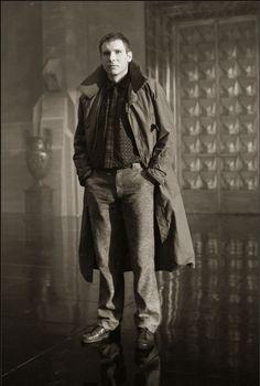 Harrison Ford as Rick Deckard in Blade Runner, 1981. Photo by Stephen Vaughan.