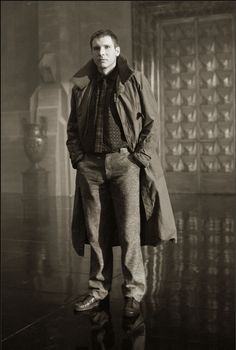 Harrison Ford as Rick Deckard in Blade Runner, 1981.