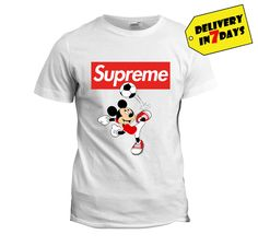 Supreme Mickey Mouse Shirts - Funny Supreme box logo T Shirt Full Size Supreme T-shirt, Mickey Mouse Shirts, Box Logo, Great T Shirts, Funny, Mens Tops, Clothes, Tall Clothing, Clothing Apparel