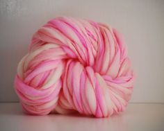Thick and Thin Handspun Merino Wool Yarn  50 by HookaholicHandspun. Colors so beautiful and it looks so soft, I want to dive into it!