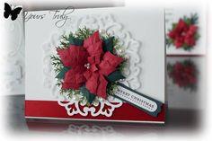 Spellbinders parisian | Spellbinders Layered poinsettia, Parisian ... | Christmas Card Making